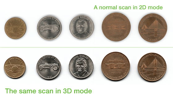scanning coins