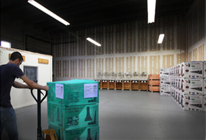 warehouse with scanners